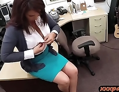 Huge tits latina railed by pawn keeper at the pawnshop