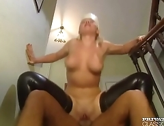 Busty Maid Takes DP in Private Classics scene