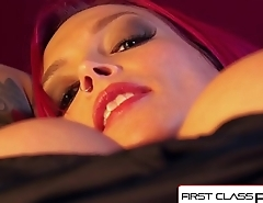 FirstClassPOV - Anna Bell Peaks sucking a monster cock, big boobs &amp_ big booty