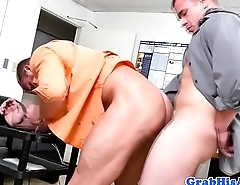 Office boss assfucking hunky employee