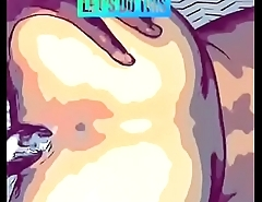 ACE giveing Hot mixed girl creamy back shots comic book theme