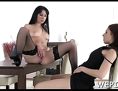 Slut gets gazoo banged and her stud is pissing in her mouth