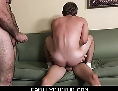 Young Twink Step Son And His Twink Best Friend Threesome With Bear Step Dad After Workout