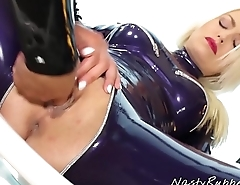 Lesbian Rubber Sex, Lena Love and Victoria Sweet