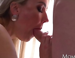 MOM Blonde Russian MILF Elen Million blowjob and piledriver fuck