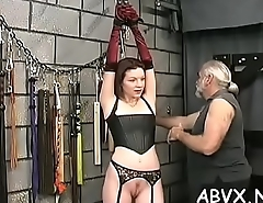 Young hottie loves the rough play on her dilettante pussy