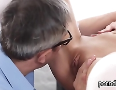 Erotic schoolgirl was teased and pounded by older teacher