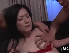 Arousing mature groans hard as hairy cookie gets banged