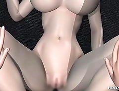 Gorgeous 3d hentai hottie with huge breasts gets her wet pussy stretched and inspected