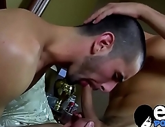 Throat fucking homosexual cock bounced on by jizz launcher