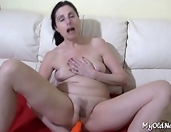 mature bimbo in a sexy action