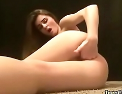 stunning babe fingerfucks her pussy