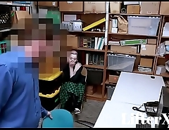 TEEN CAUGHT STEALING COMPLIES WITH OFFICER WITH BLOWJOB- LifterX.com