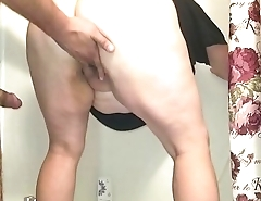 Sexy BBW Gets Fucked in Shower with Dripping Creampie