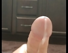 Stroking my big white dick