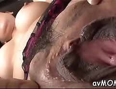 Two guys get their asses  finger fucked and licked by immodest mom