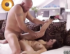 Show daddy and sexy old Rough fuck-fest for super-sexy latina babe