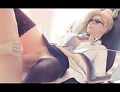 Overwatch Fucking pussy Mercy at the office