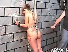 Naughty amateur movie scene with girl enduring pussy stimulation