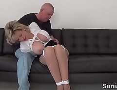Unfaithful english milf gill ellis shows her huge breasts