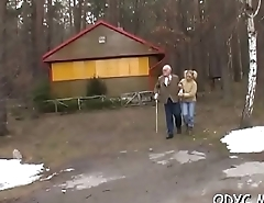 Horny old and young sex with hot babe taking the weenie hard