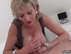 Unfaithful english milf lady sonia shows off her huge boobies