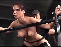 Extreme! Busty mature lady tied and abused by two guys!!! -Punishland.com