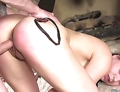Student tormented and rough banged