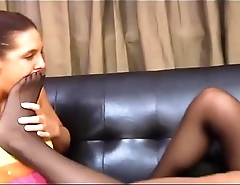 Two young and attractive models foot smelling in pantyhose