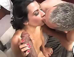 Massive black cock chokes newly married white women