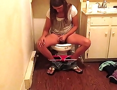 Real Hidden Cam Caught Hot Teen Babe Masturbating While Using The Bathroom Cumming All Over Her Hand Making A Mess