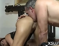 Cutie takes pleasure smothering her fat butt on eager stud